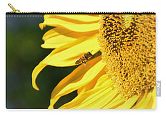 Breakfast Bee Carry-all Pouch by Angela J Wright