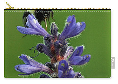 Carry-all Pouch featuring the photograph Bumble Bee Breakfast by Glenn Gordon