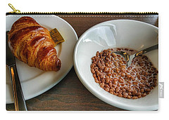 Breakfast Of Cereal And Croissant Carry-all Pouch by Isabella F Abbie Shores FRSA