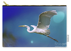 Breakin Dawn Flyer-the Great Egret Carry-all Pouch