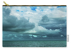 Carry-all Pouch featuring the photograph Breaking Clouds In Key West, Florida by Bob Slitzan