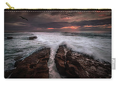 Breaking Waves, Signed Carry-all Pouch