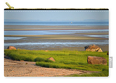 Breakwater Beach At Low Tide Carry-all Pouch