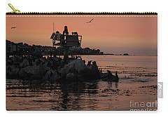 Breakwater Sunset Carry-all Pouch by Suzanne Luft