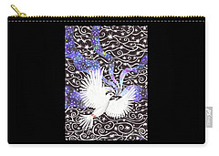 Carry-all Pouch featuring the painting Breathing Life Into Darkness by Lise Winne