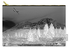 Carry-all Pouch featuring the photograph Breathtaking In Black And White by Joyce Dickens