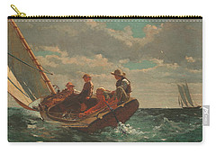 Carry-all Pouch featuring the painting Breezing Up A Fair Wind - 1876 by Winslow Homer