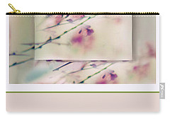 Carry-all Pouch featuring the photograph Breezy Blossom Panel by Jessica Jenney