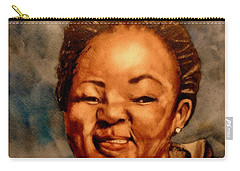 Carry-all Pouch featuring the painting Brenda  by Betty-Anne McDonald