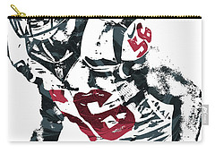 Carry-all Pouch featuring the mixed media Brian Cushing Houston Texans Pixel Art by Joe Hamilton