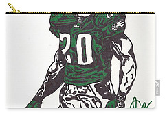 Carry-all Pouch featuring the drawing Brian Dawkins 3 by Jeremiah Colley