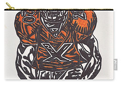 Carry-all Pouch featuring the drawing Brian Dawkins by Jeremiah Colley