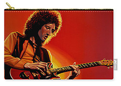Brian May Of Queen Painting Carry-all Pouch by Paul Meijering