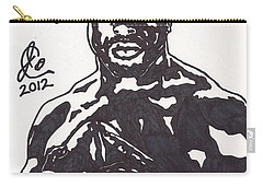 Carry-all Pouch featuring the drawing Brian Westbrook by Jeremiah Colley