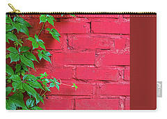Carry-all Pouch featuring the photograph Brick And Vines by Richard Rizzo