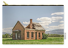 Carry-all Pouch featuring the photograph Brick Home In June 2017 by Sue Smith