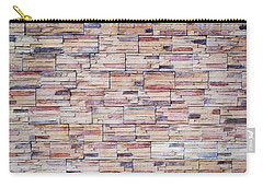 Carry-all Pouch featuring the photograph Brick Tiled Wall by John Williams