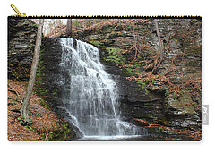 Carry-all Pouch featuring the photograph Bridal Veil Falls by Linda Sannuti