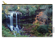 Carry-all Pouch featuring the painting Bridal Veil Waterfalls by Debra Crank