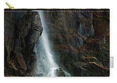 Carry-all Pouch featuring the photograph Bridalveil Falls In Autumn by Bill Gallagher