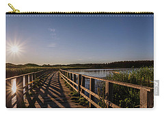 Carry-all Pouch featuring the photograph Bridge Across Shining Waters by Chris Bordeleau