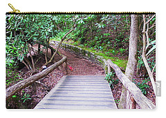 Carry-all Pouch featuring the photograph Bridge Across The Creek by Cathy Harper
