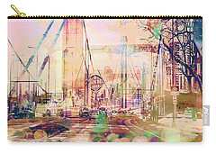 Carry-all Pouch featuring the photograph Bridge And Grain Belt Beer Sign by Susan Stone