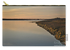 Bridge And Ria At Sunset In Quinta Do Lago Carry-all Pouch by Angelo DeVal