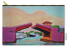 Carry-all Pouch featuring the painting Bridge At Se 3rd by Deborah Boyd