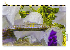 Carry-all Pouch featuring the photograph Bridge Flower.  by Leif Sohlman