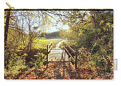Bridge In Autumn Carry-all Pouch by Janette Boyd