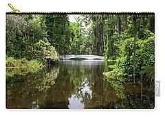 Carry-all Pouch featuring the photograph Bridge In The Garden by Sandy Keeton