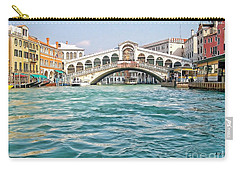 Carry-all Pouch featuring the photograph Bridge In Venice by Roberta Byram