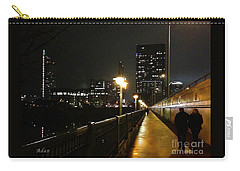 Carry-all Pouch featuring the photograph Bridge Into The Night by Felipe Adan Lerma