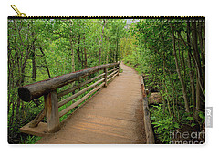 Bridge On Alberta Falls Trail Carry-all Pouch
