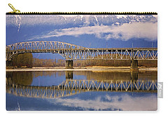 Carry-all Pouch featuring the photograph Bridge Over Calm Waters by Jordan Blackstone
