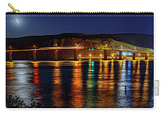Carry-all Pouch featuring the photograph Bridge Over Columbia Waters by Cat Connor