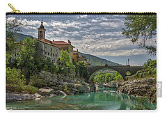 Carry-all Pouch featuring the photograph Bridge Over The Soca - Kanal Slovenia by Stuart Litoff