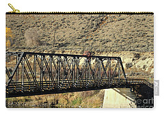Carry-all Pouch featuring the photograph Bridge Over The Thompson by Ann E Robson
