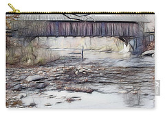 Carry-all Pouch featuring the photograph Bridge Over Troubled Waters by EricaMaxine  Price