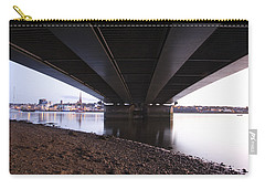 Carry-all Pouch featuring the photograph Bridge Over Wexford Harbour by Ian Middleton