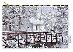Carry-all Pouch featuring the photograph Bridge To Faith by Diane Alexander