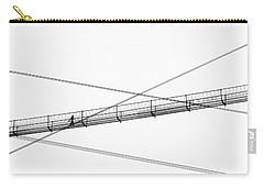 Carry-all Pouch featuring the photograph Bridge Walker by Joe Bonita