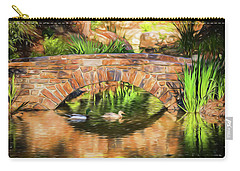 Bridge With Ducks Carry-all Pouch