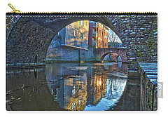 Carry-all Pouch featuring the photograph Bridges Across Binnendieze In Den Bosch by Frans Blok