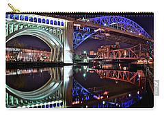Carry-all Pouch featuring the photograph Bridges by Frozen in Time Fine Art Photography