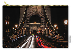 Bridges Of Budapest - Chain Bridge Carry-all Pouch by Jaroslaw Blaminsky