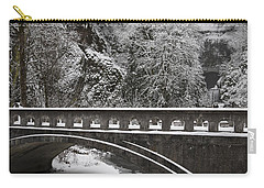 Bridges Of Multnomah Falls Carry-all Pouch by Wes and Dotty Weber