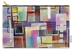Carry-all Pouch featuring the painting Bridging Gaps by Hailey E Herrera