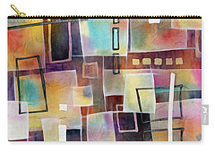 Carry-all Pouch featuring the painting Bridging Gaps 2 by Hailey E Herrera
